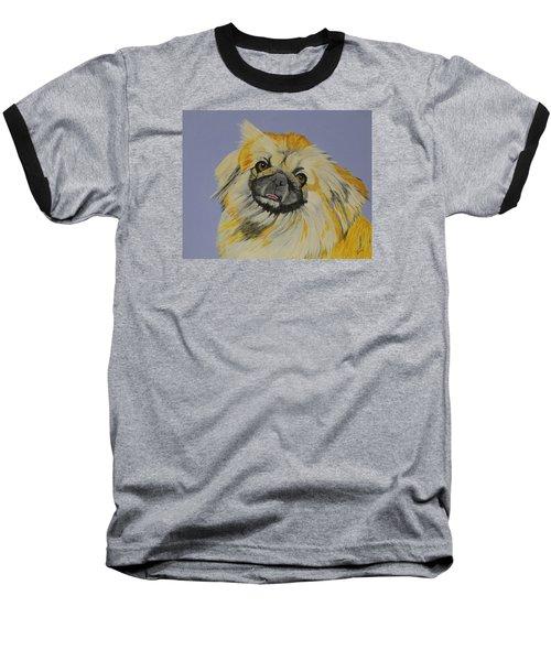 Poopan The Pekingese Baseball T-Shirt by Hilda and Jose Garrancho