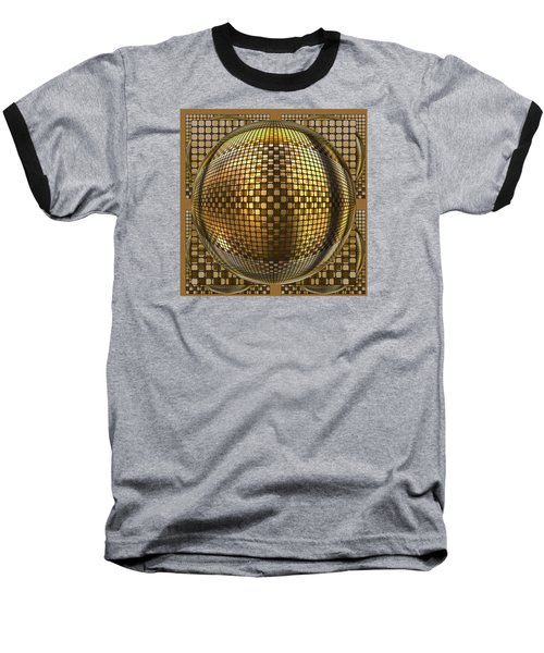 Pop Art Circles Baseball T-Shirt by Mario Carini