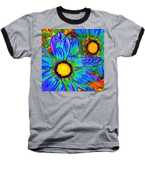 Pop Art Daisies 4 Baseball T-Shirt