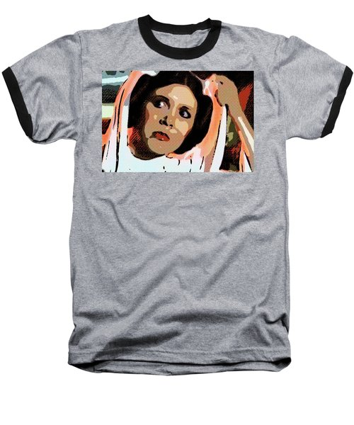 Pop Art Princess Leia Organa Baseball T-Shirt