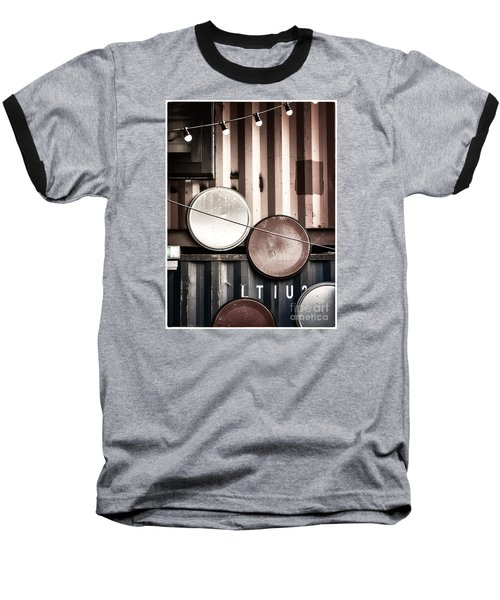 Baseball T-Shirt featuring the photograph Pop Brixton - Industrial Style by Lenny Carter