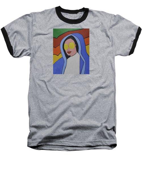 Pop Virgin Baseball T-Shirt by Jose Rojas