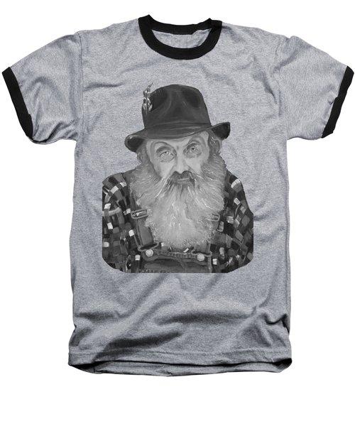 Popcorn Sutton Moonshiner Bust - T-shirt Transparent B And  W Baseball T-Shirt by Jan Dappen