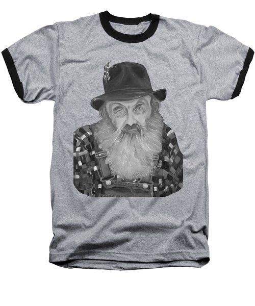 Popcorn Sutton Moonshiner Bust - T-shirt Transparent B And  W Baseball T-Shirt