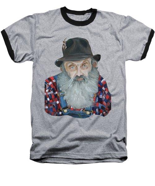 Popcorn Sutton Moonshiner Bust - T-shirt Transparent Baseball T-Shirt by Jan Dappen