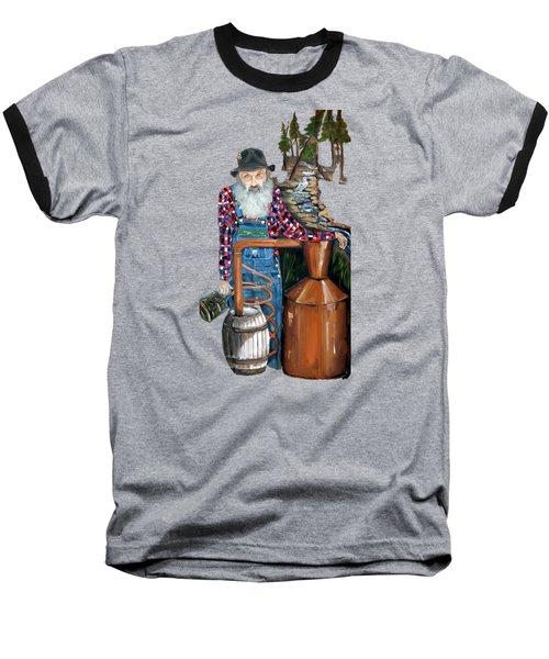 Popcorn Sutton Moonshiner -t-shirt Transparrent Baseball T-Shirt by Jan Dappen