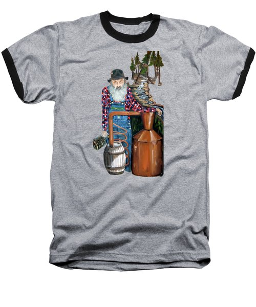Popcorn Sutton Moonshiner -t-shirt Transparrent Baseball T-Shirt