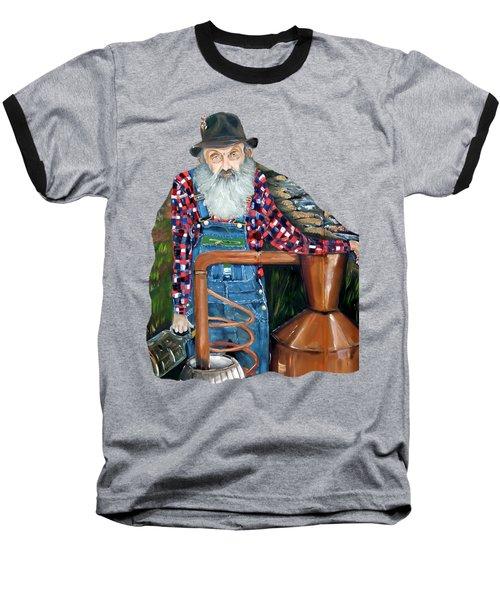 Popcorn Sutton Moonshiner - Tshirt Transparent Torso Baseball T-Shirt by Jan Dappen