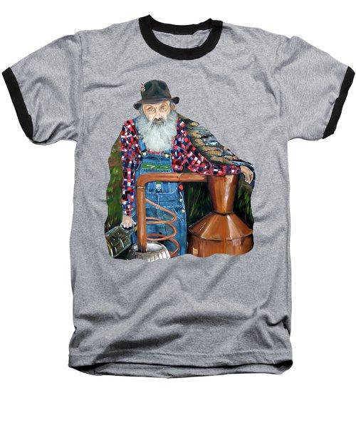 Popcorn Sutton Moonshiner - Tshirt Transparent Torso Baseball T-Shirt