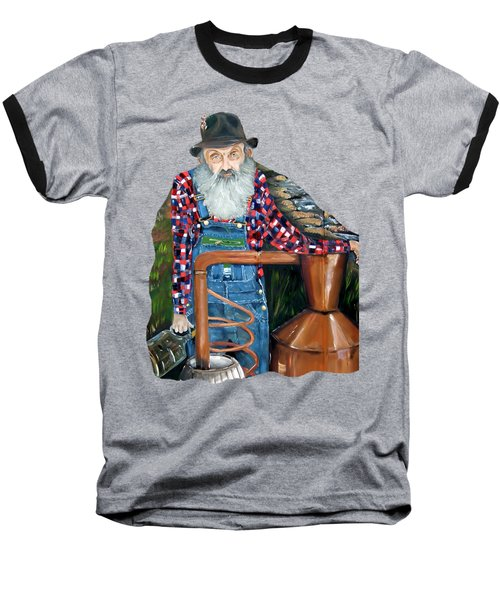 Popcorn Sutton Moonshiner - Tshirt Transparent Torso Baseball T-Shirt