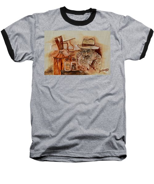 Popcorn Sutton - Waiting On Shine Baseball T-Shirt