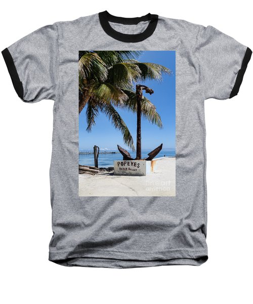 Baseball T-Shirt featuring the photograph Popeyes by Lawrence Burry