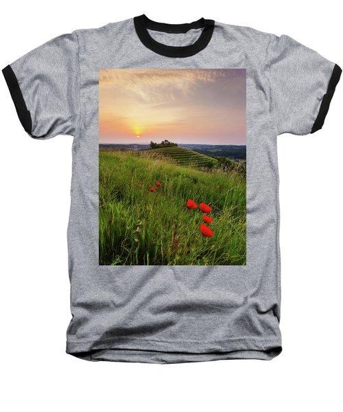 Poppies Burns Baseball T-Shirt