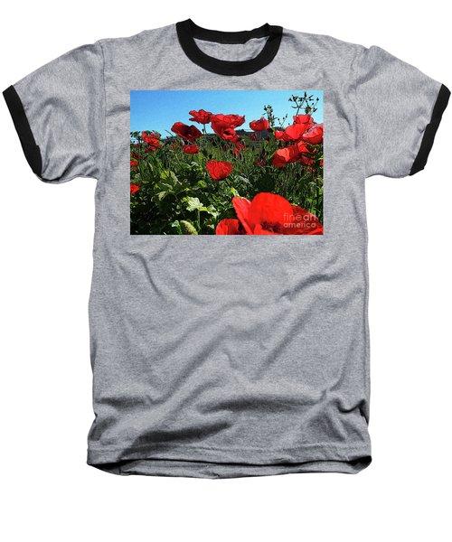Poppies. Baseball T-Shirt