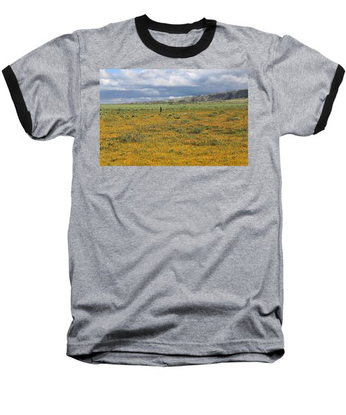 Poppies Field In Antelope Valley Baseball T-Shirt by Viktor Savchenko
