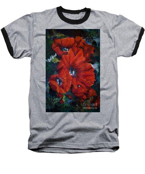Poppies In Light IIi Baseball T-Shirt
