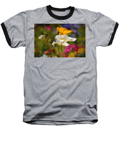 Poppies In The Spring Baseball T-Shirt by Deb Halloran
