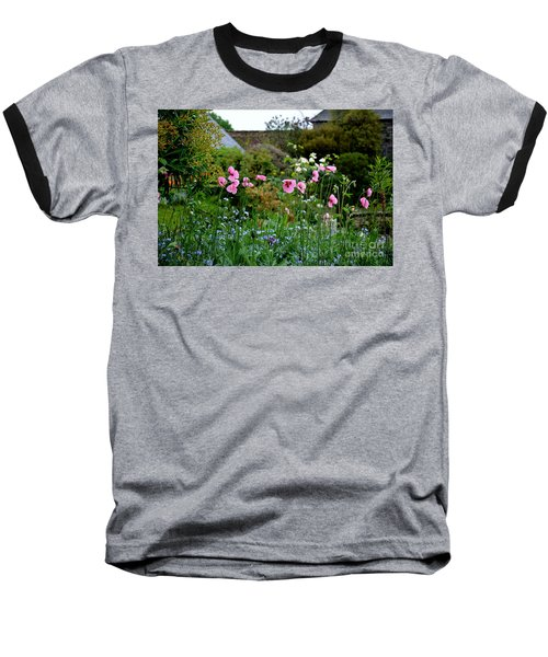 Poppies Of The Great Dixter Baseball T-Shirt by Tanya Searcy