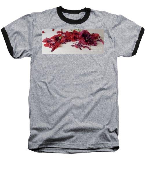 Poppies Petals Baseball T-Shirt