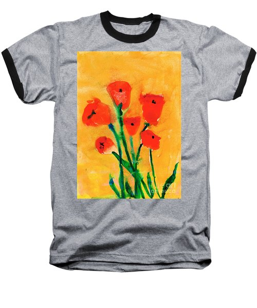 Poppies Baseball T-Shirt