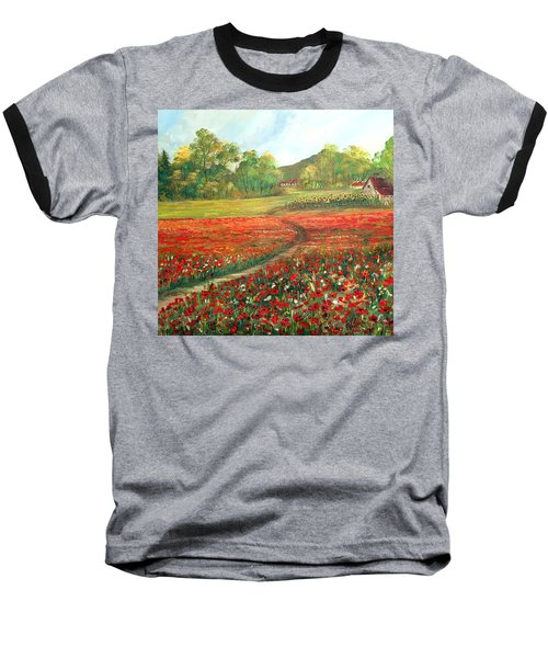Poppies Time Baseball T-Shirt