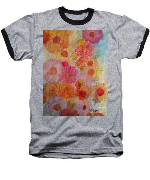 Baseball T-Shirt featuring the painting Popping by Kim Nelson