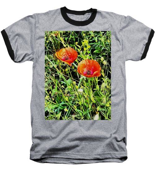 Poppy Beauties Baseball T-Shirt