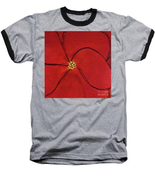 Poppy Dots Baseball T-Shirt