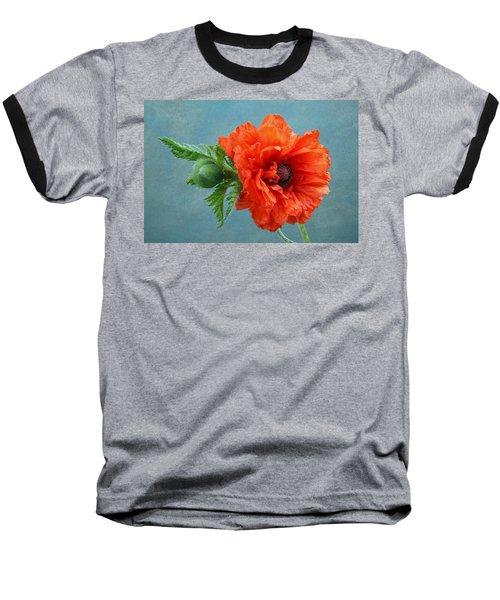 Poppy Flower Baseball T-Shirt