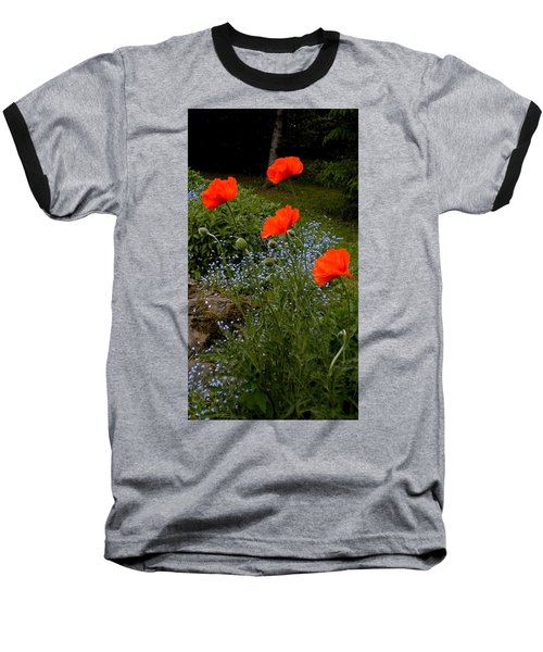 Poppy Foursome Baseball T-Shirt