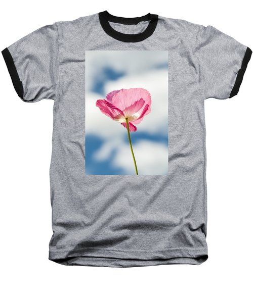Poppy In The Clouds Baseball T-Shirt