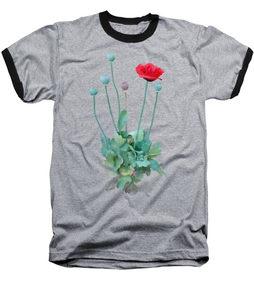 Baseball T-Shirt featuring the painting Poppy by Ivana Westin