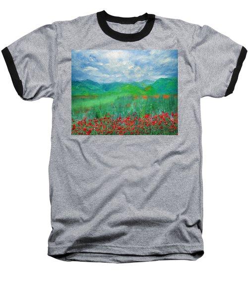 Poppy Meadows Baseball T-Shirt