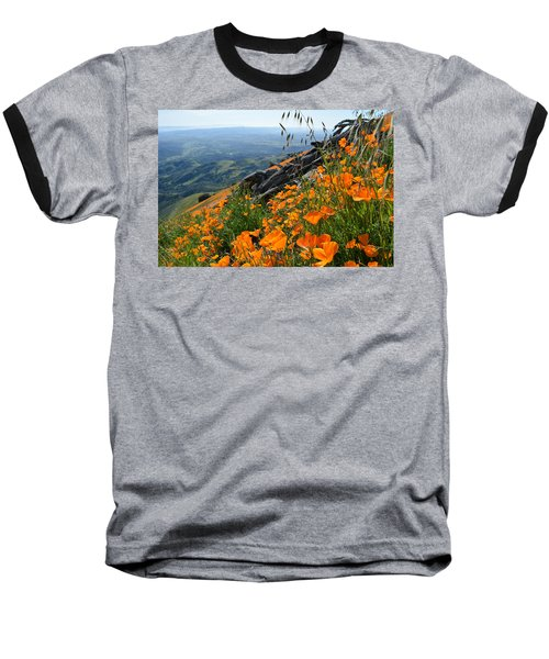 Poppy Mountain  Baseball T-Shirt by Kyle Hanson