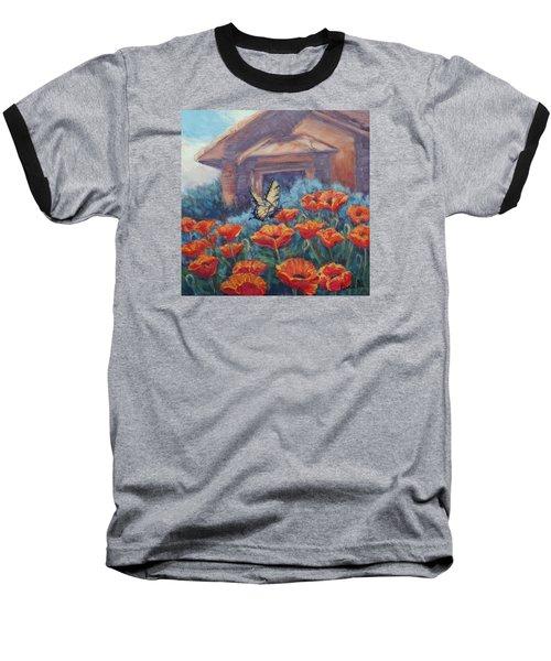 Poppy Paradise Baseball T-Shirt