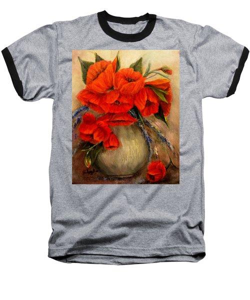 Poppy Passion Baseball T-Shirt