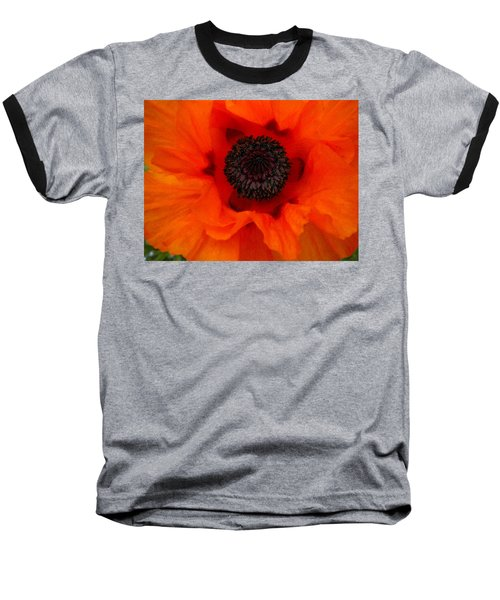 Baseball T-Shirt featuring the painting Poppy by Renate Nadi Wesley