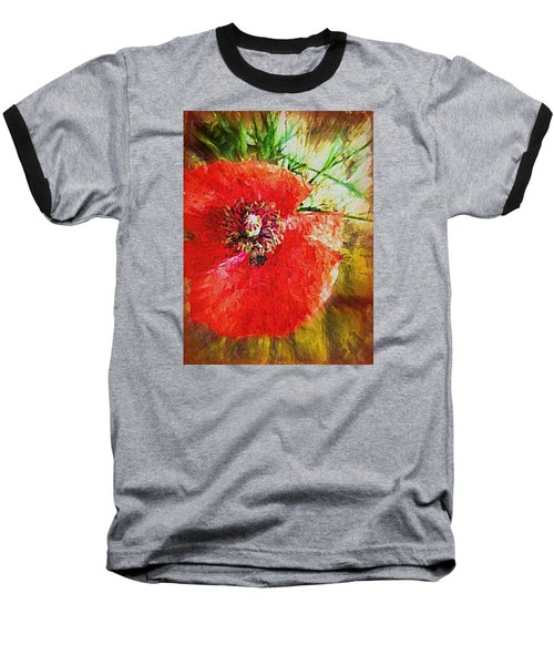 Baseball T-Shirt featuring the photograph Poppy Variation Too by Kathy Bassett