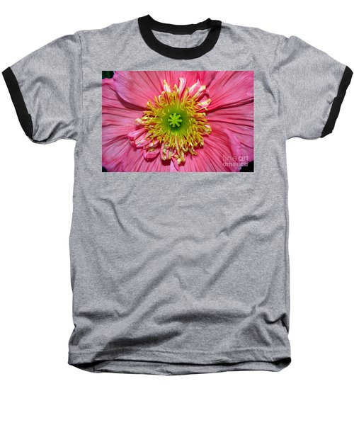Poppy Baseball T-Shirt by Vivian Krug Cotton