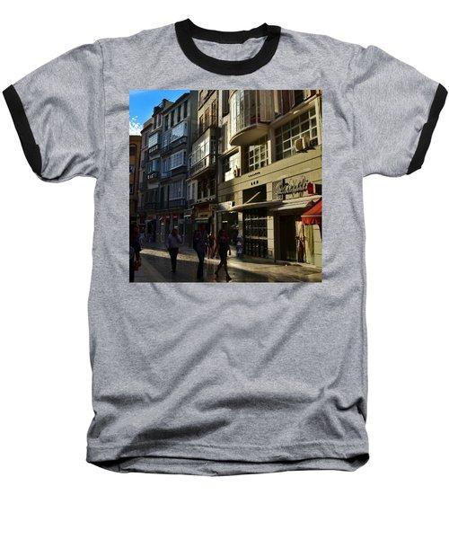 Por Las Calles Del Centro De #malaga Baseball T-Shirt
