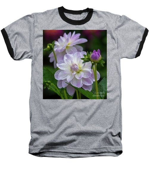 Porcelain Dahlia With Dewdrops Baseball T-Shirt