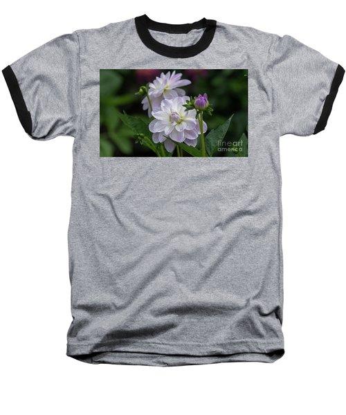 Porcelain Dahlias Baseball T-Shirt