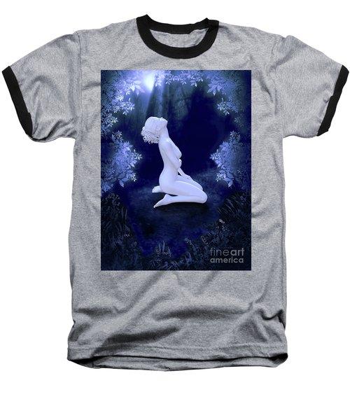 Porcelain Moon Baseball T-Shirt