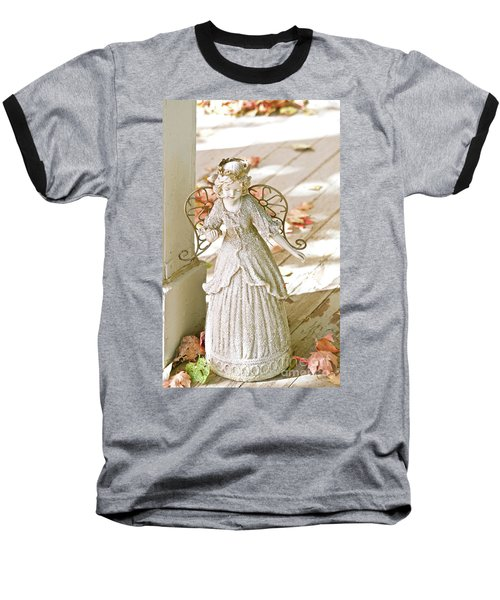 Porch Angel In The Fall Baseball T-Shirt