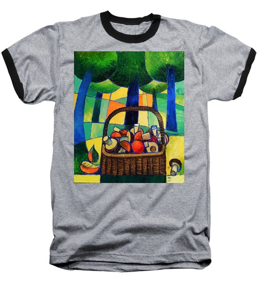 Baseball T-Shirt featuring the painting Porcini by Mikhail Zarovny