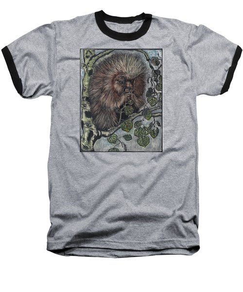 Baseball T-Shirt featuring the drawing Porcupine In Aspen by Dawn Senior-Trask