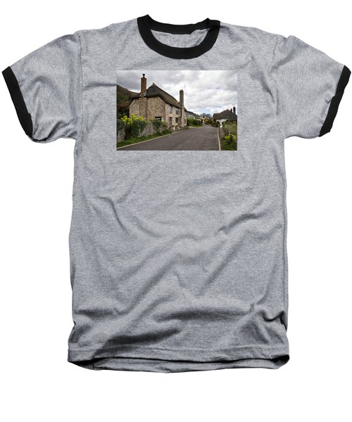 Porlock Weir Baseball T-Shirt by Shirley Mitchell