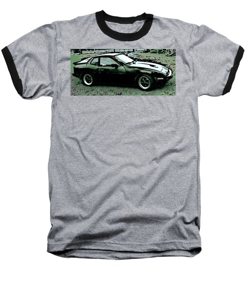 Porsche 944 On A Hot Afternoon Baseball T-Shirt by George Pedro