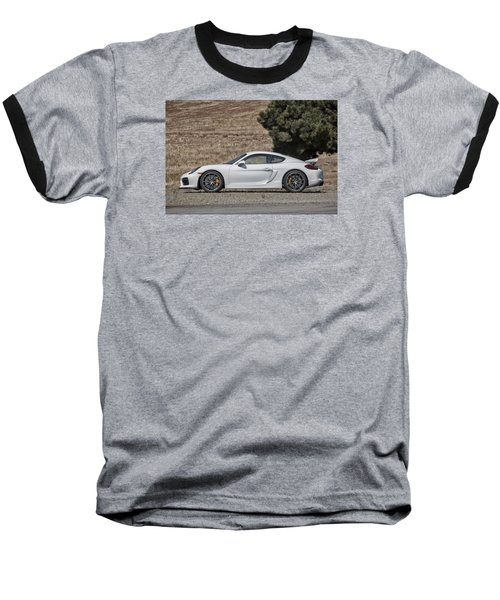 Porsche Cayman Gt4 Side Profile Baseball T-Shirt