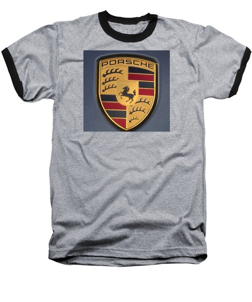 Porsche Emblem Baseball T-Shirt by Lingfai Leung